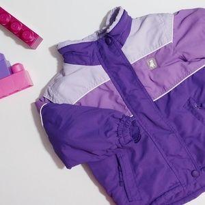¤ Toddler winter coat purple 2T